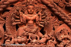 Carvings on the house in Bhaktapur