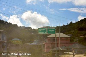 Dusty roads of Mizoram, India