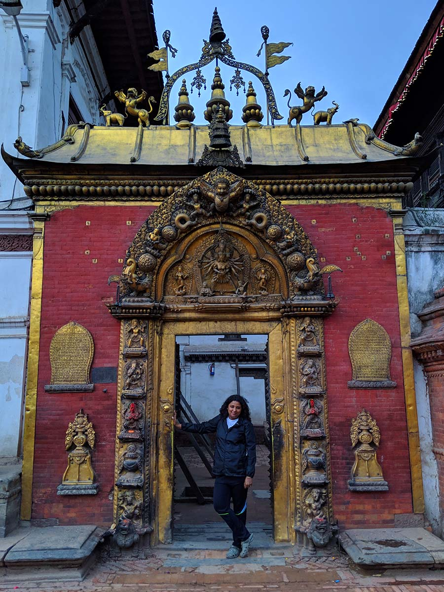 Golden gate in Bhaktapur Durbar Square