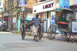 Hand pulled rickshaw of Kolkata