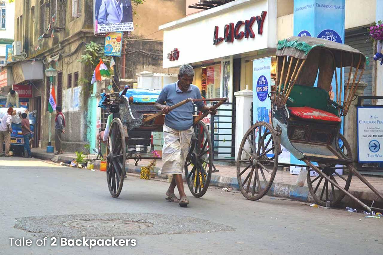 Hand pulled rickshaw of Kolkata