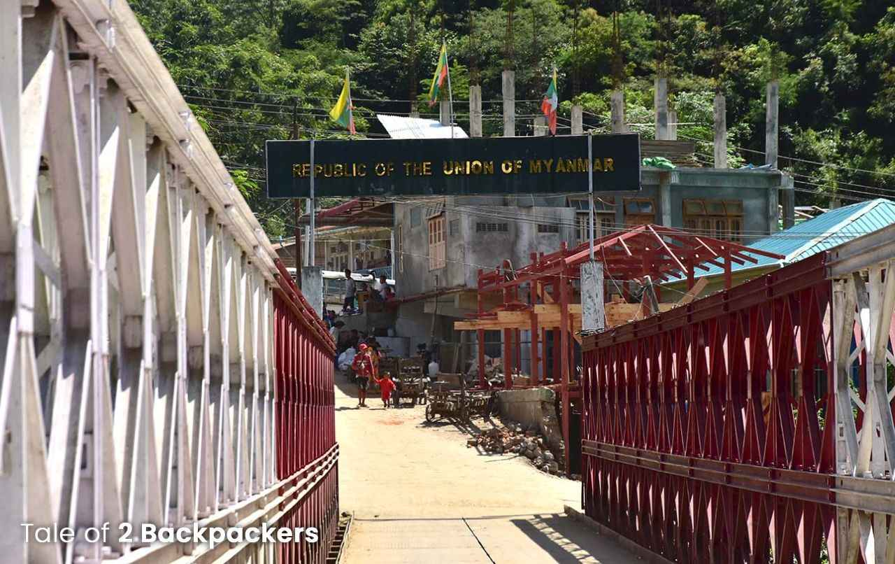 Iron bridge connecting India and Myanmar at Zokhawthar, Champhai Mizoram