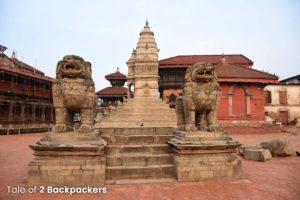Lion Gates at Bhaktapur Durbar Square Nepal