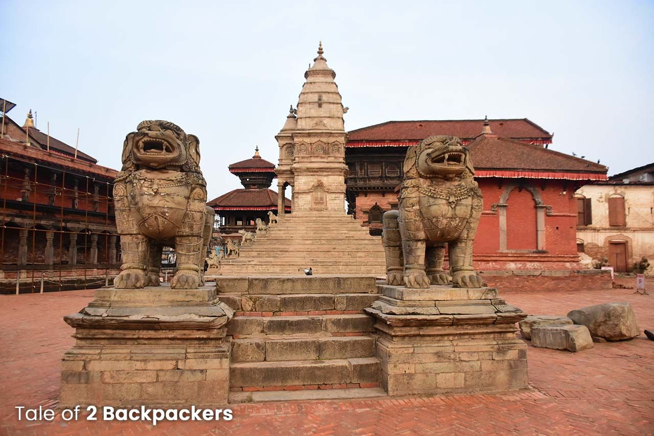 Lion Gates at Bhaktapur Durbar Square Nepal