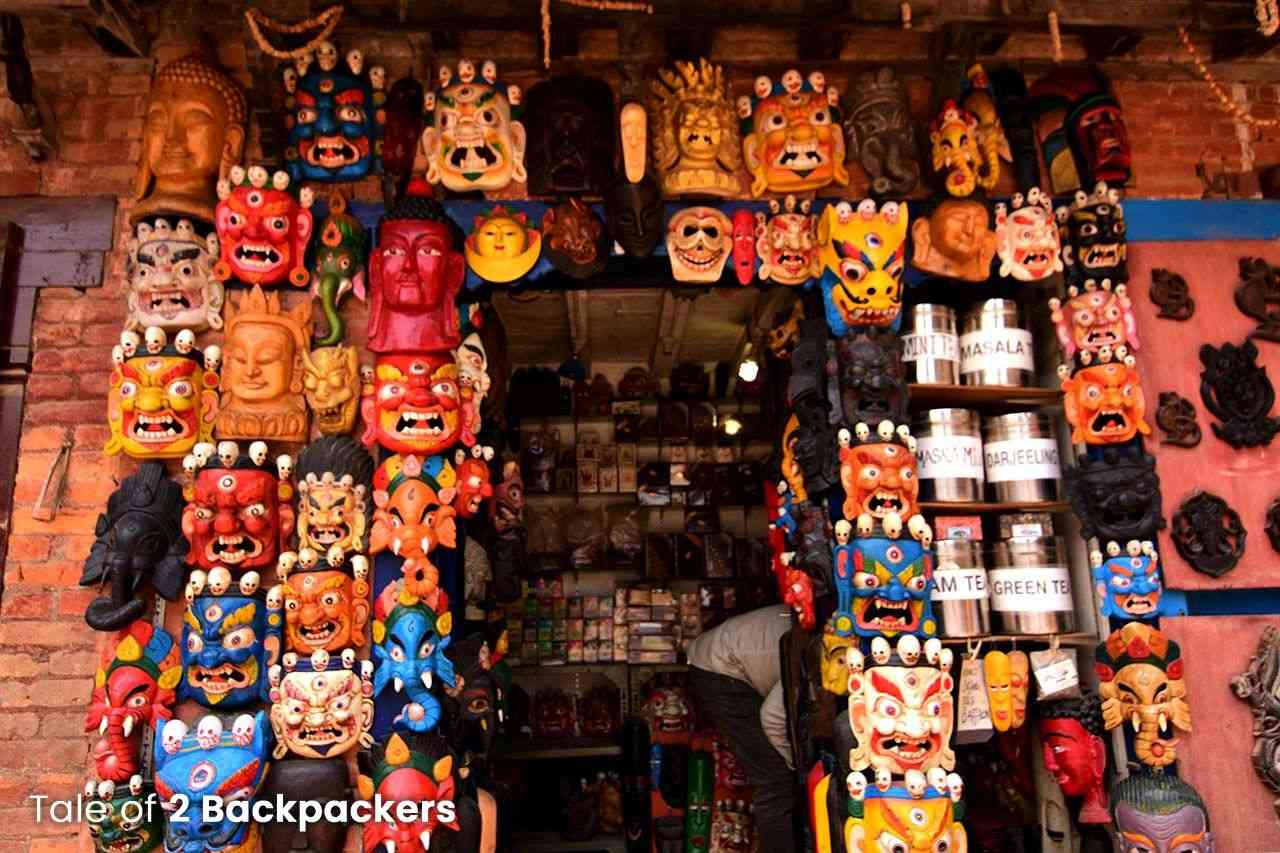 Masks made in Pottery Square in Bhaktapur, Nepal