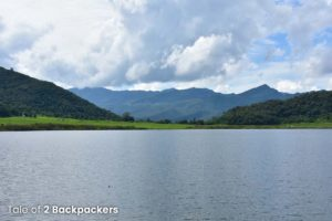 Mountains surrounding Rih Dil Lake - heart shaped lake