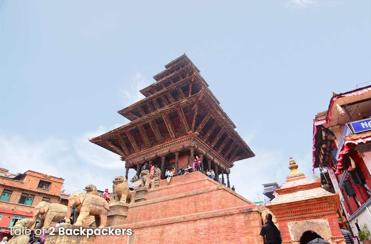 Nyatapola Temple Taumadhi Square, Bhaktapur architecture