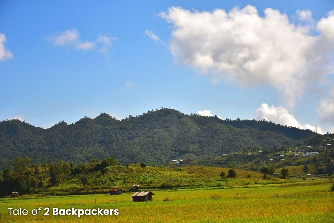 Green Paddy fields at Champhai Mizoram