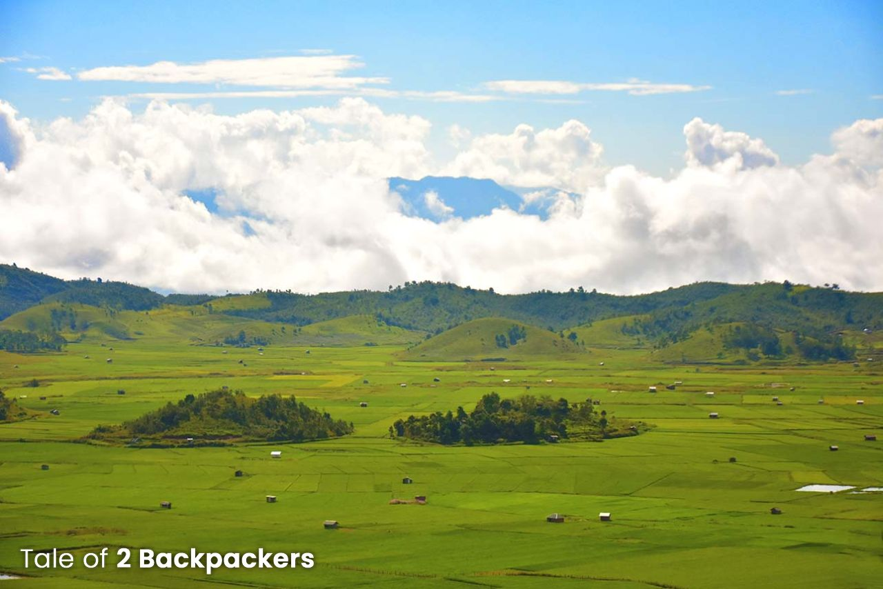 Paddy fields in Champhai - rice bowl of Mizoram