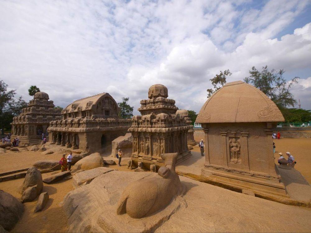Panch Rathas Mahabalipuram - Temples of South India