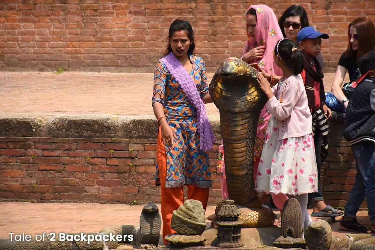 Snake statue at Naga Pokhri