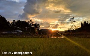 Sunset in Champhai - Mizoram tourism