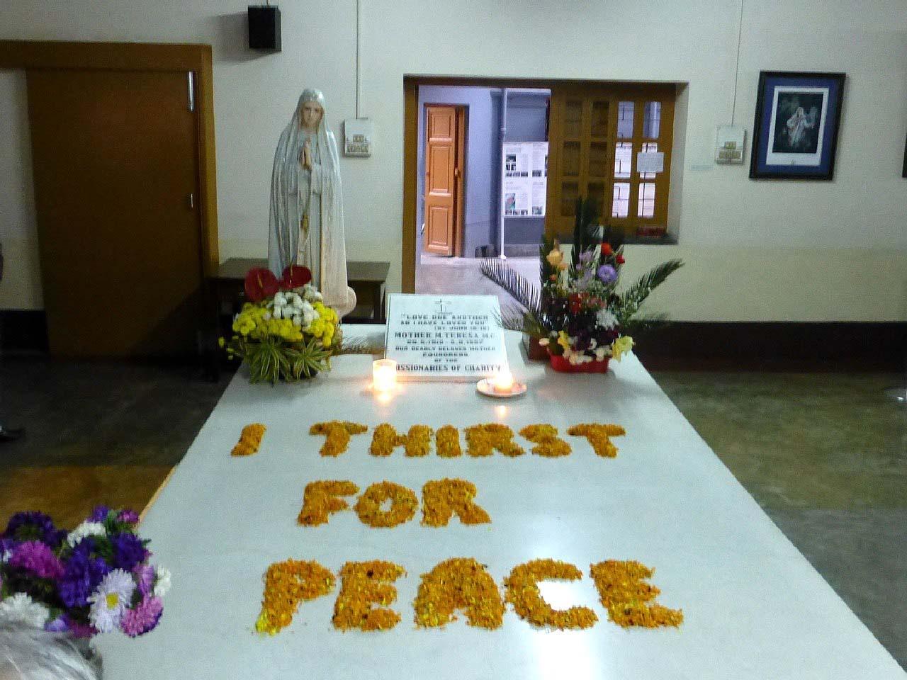 Tomb of Mother Teresa at Mother House Kolkata