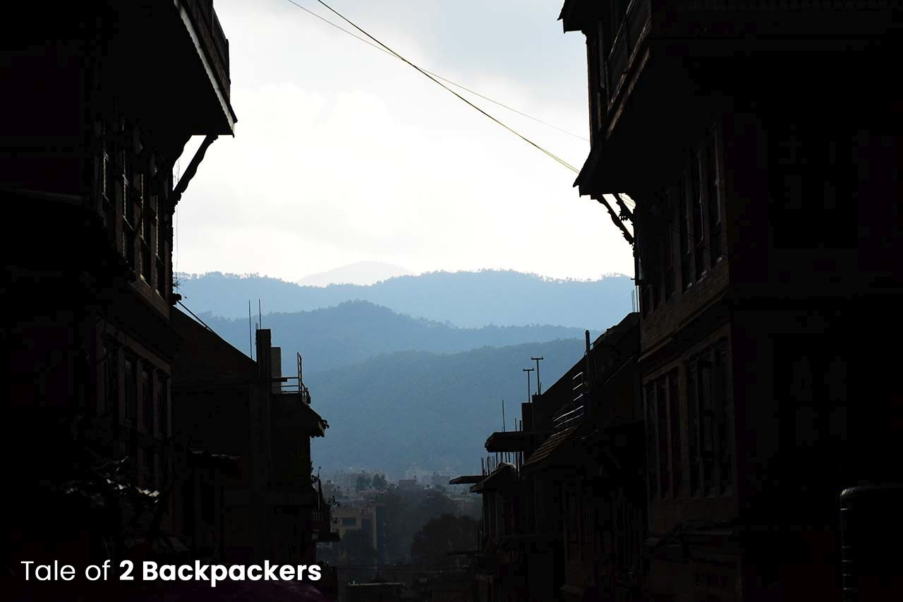 View of the mountains from Bhaktapur places to visit in Bhaktapur