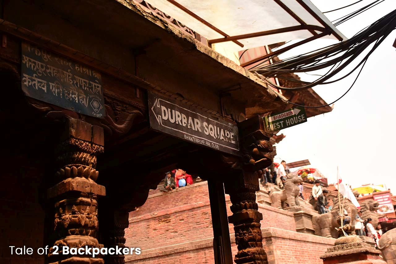 Way to Bhaktapur Durbar Square