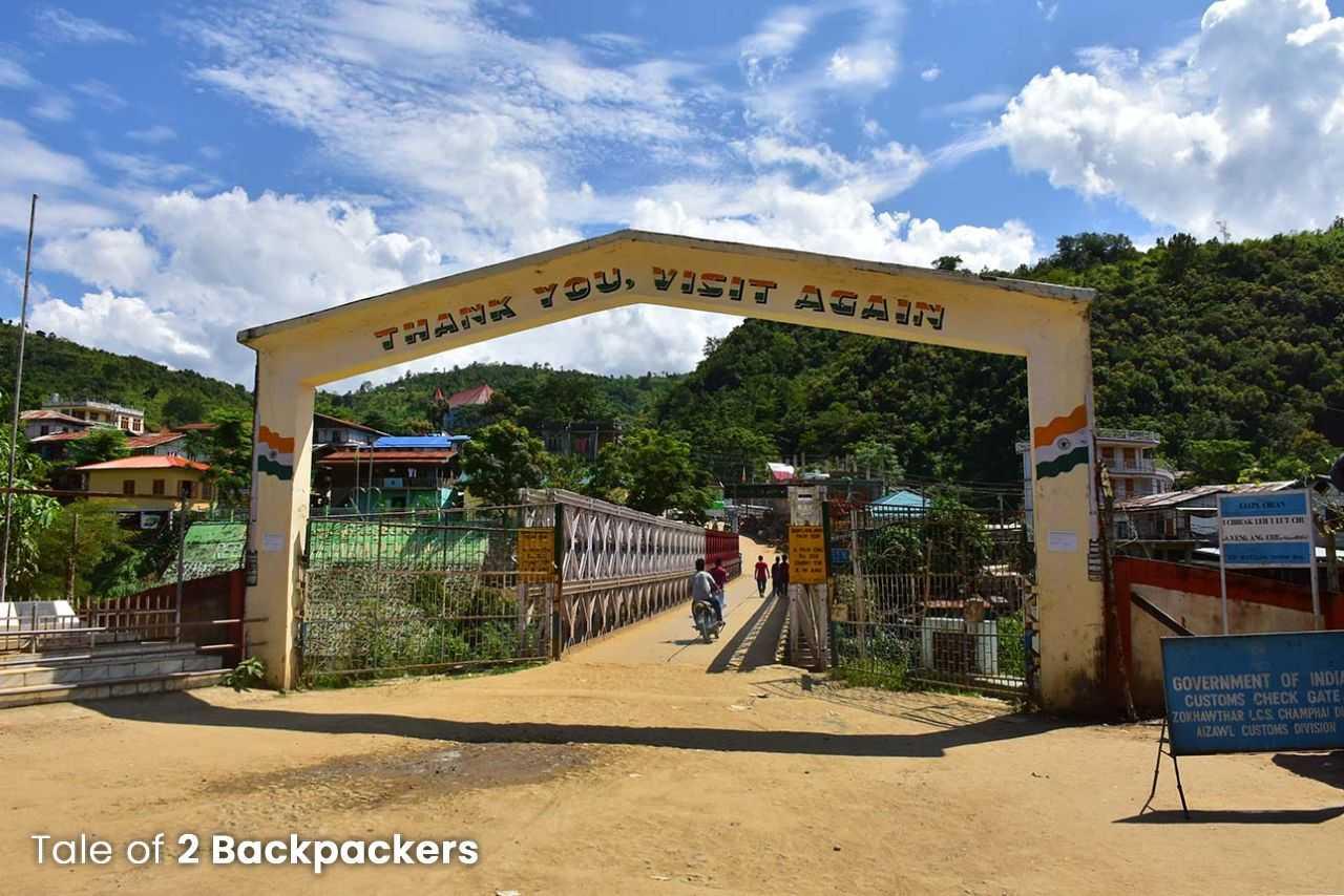 Zokhawthar Rikhawdar Border at India-Myanmar border at Mizoram