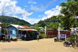 Zokhawthar border at Mizoram - India Myanmar border