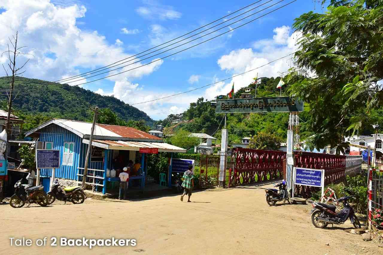 Zokhawthar border at Mizoram - India Myanmar border