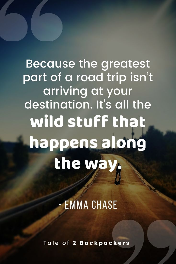 Favourite and best road trip quote