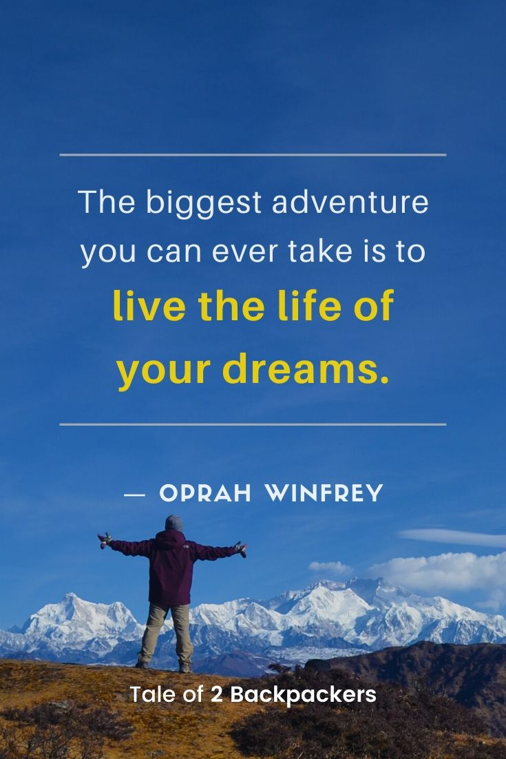 Adventure life quotes by Oprah Winfrey