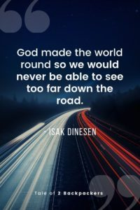 Funny road trip Quotes - God made the world round so we would never be able to see too far down the road
