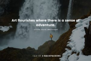 Unique adventure Quotes - Art flourishes where there is a sense of adventure