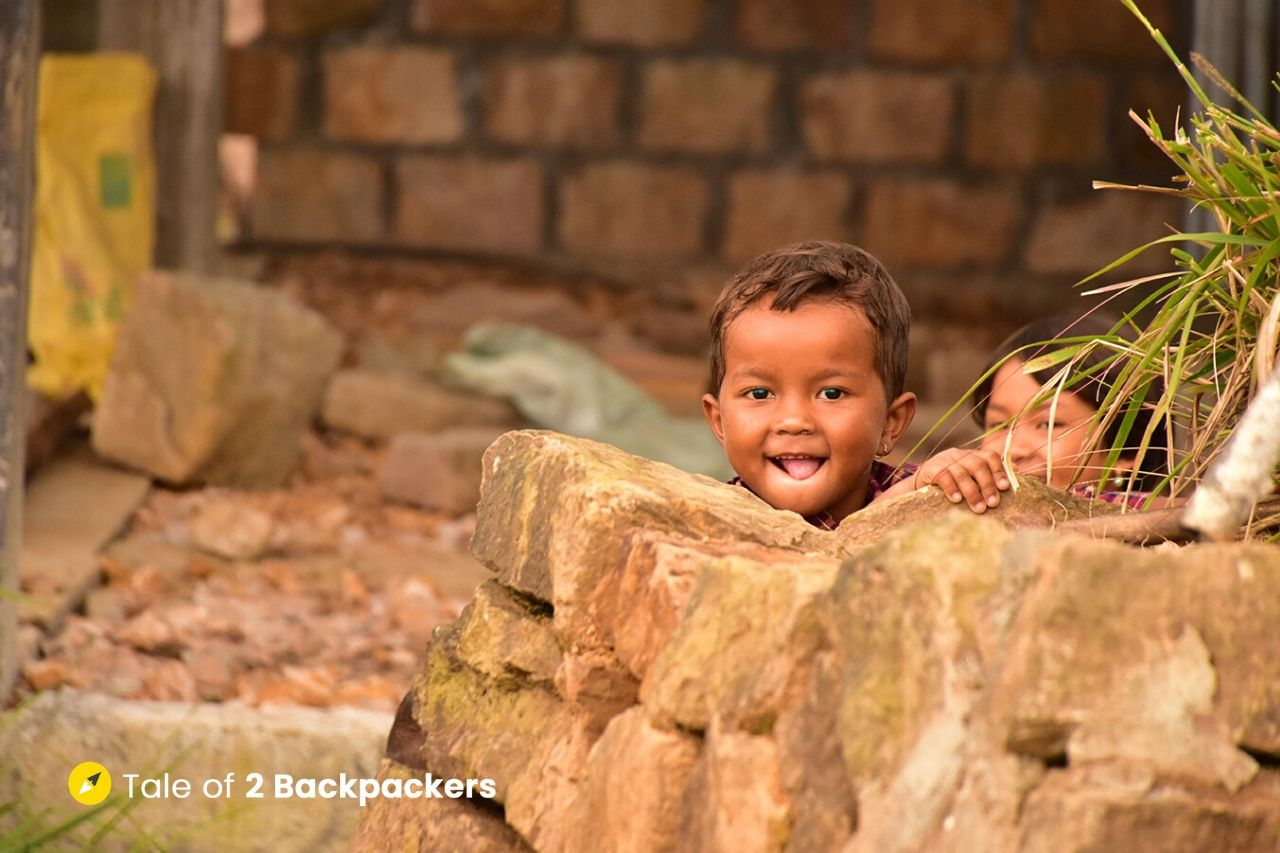 Smiling kid at Meghalaya