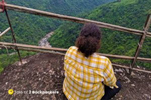 Esctatic on the top - At Mawmoit Viewpoint - Bamboo Trail in offbeat Meghalaya
