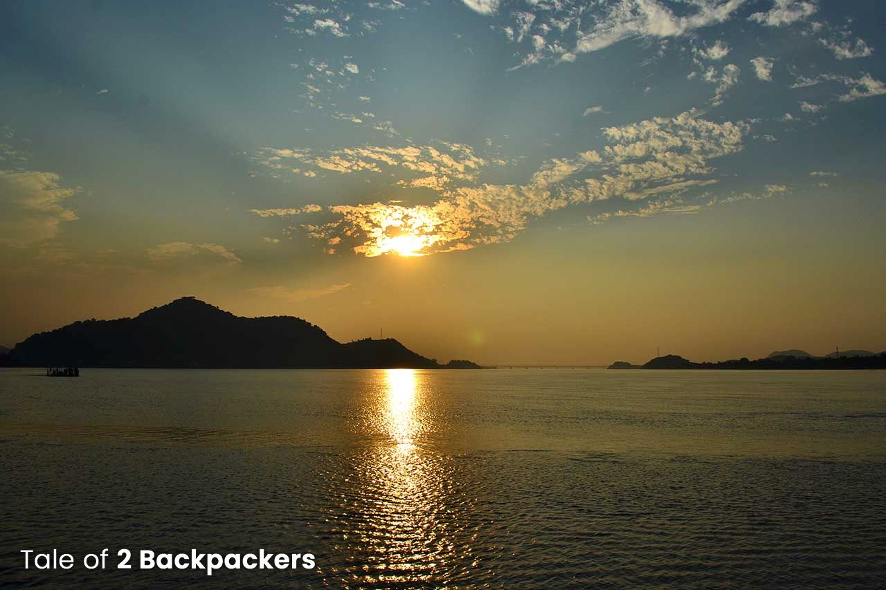 Sunset at Brahmaputra River in Guwahati