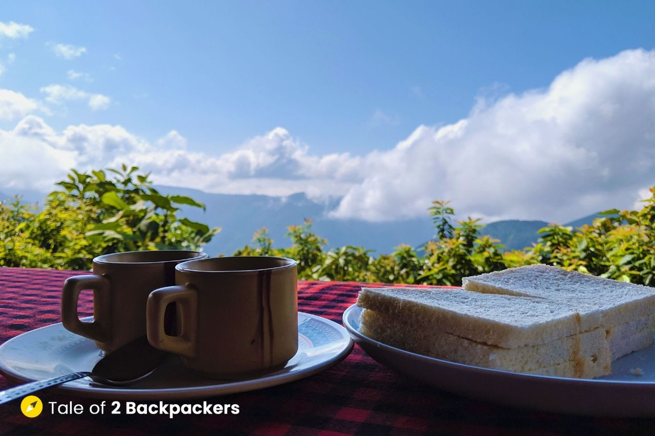 Breakfast with a view at Travellers Nest Kongthong
