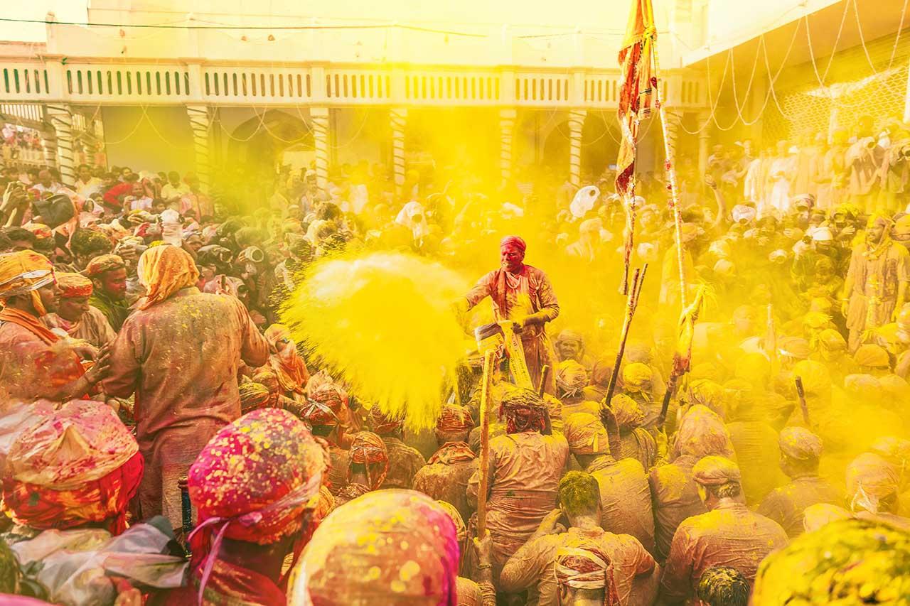 Holi Festival of color in India