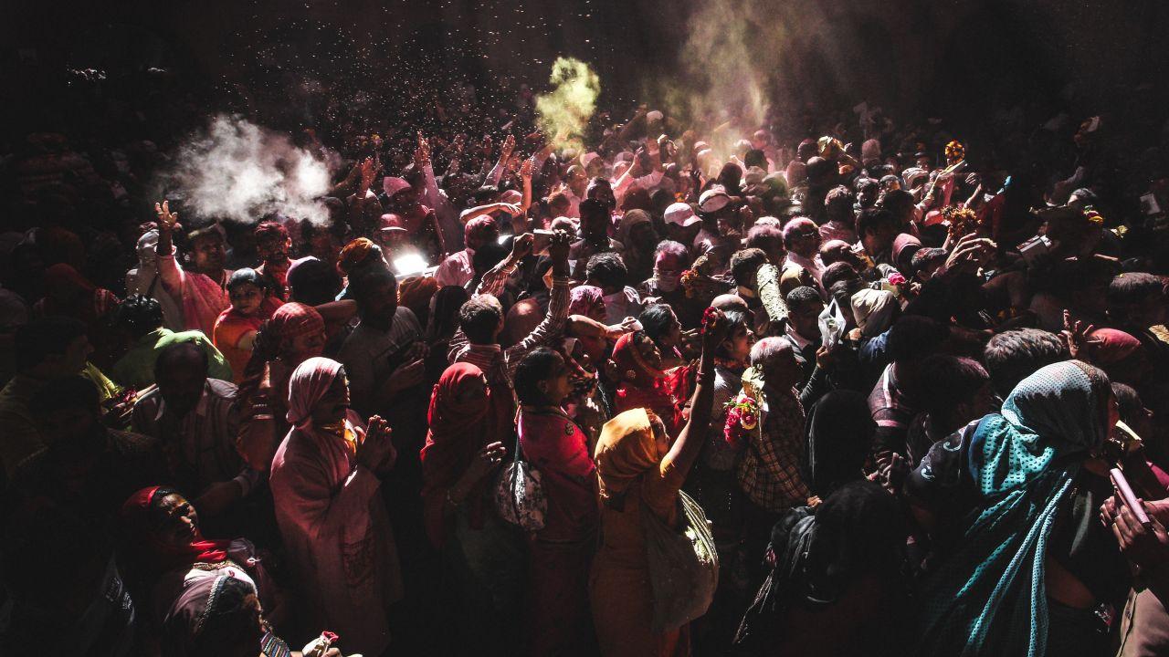 Holi Procession in Mathura