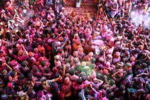 Holi at Banke Bihari Temple Vrindavan