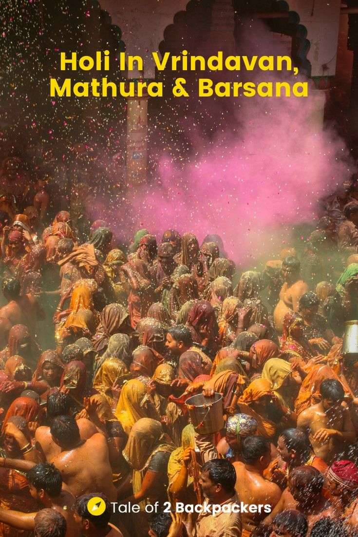 Holi in Vrindavan Mathura