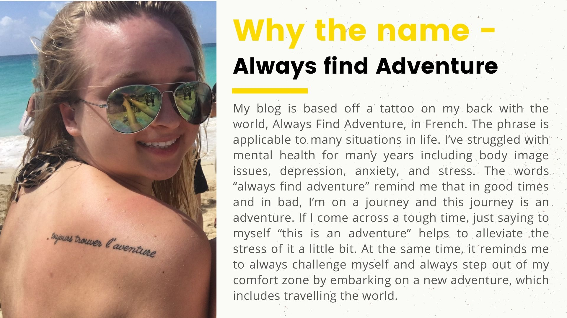 Lauren from Always Find Adventure - How to choose the perfect travel blog name