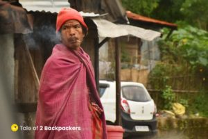 Local villager at Wahkhen village - offbeat Meghalaya