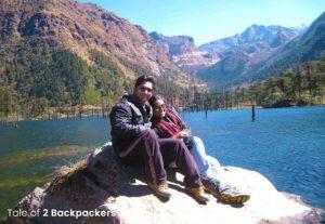 Agni and Amrita at Madhuri Lake, Tawang