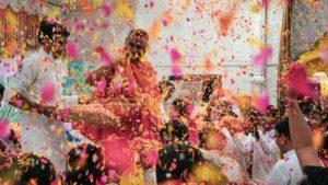 Phoolowali Holi in Vrindavan Banke Bihari Temple