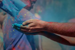 Playing with colors in Holi