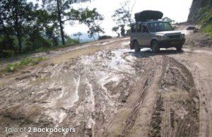 Roads on the way from Guwahati to Tawang