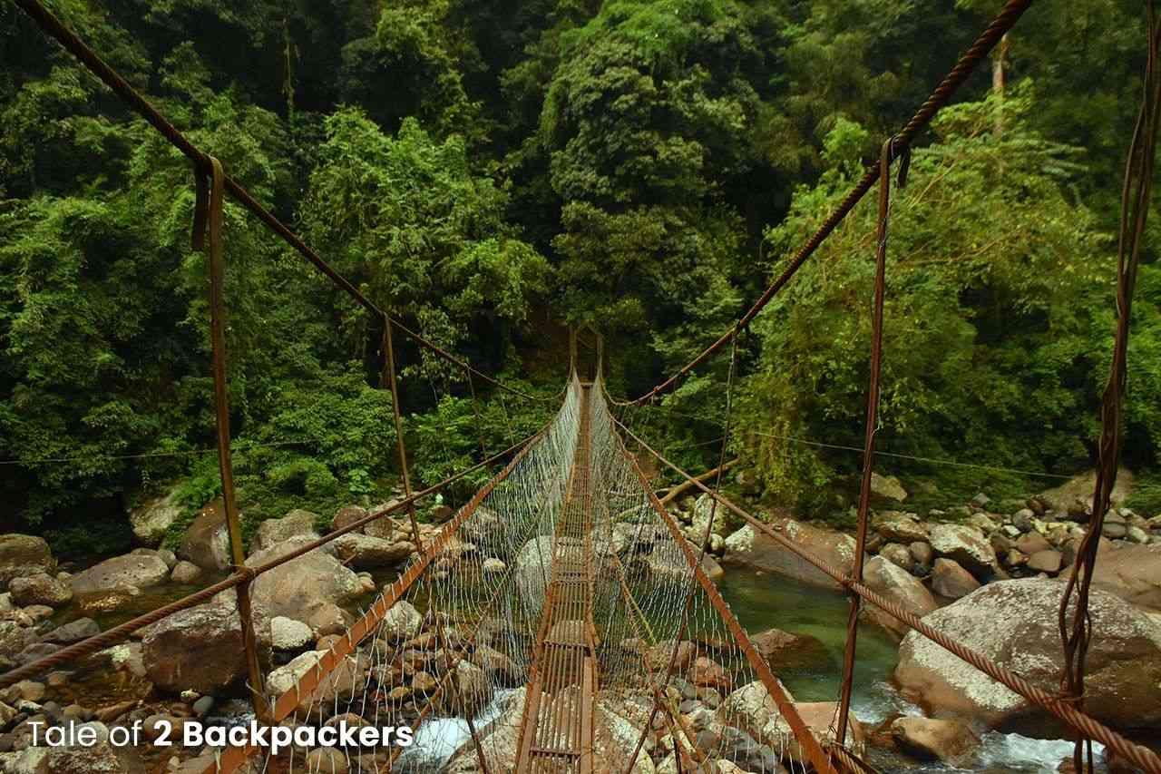 Suspension Bridge on the way to Nongriat village
