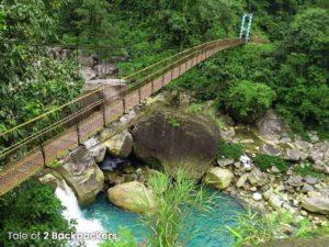 Suspension bridge on the way to Nongriat