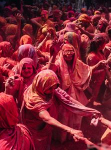 Widow Holi at Pagla Baba Ashram Vrindavan
