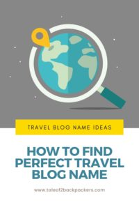 How to choose the perfect travel blog name