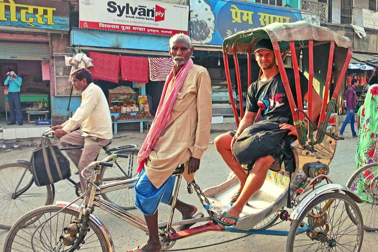 Rickshaw ride in varanasi - travel experience in India