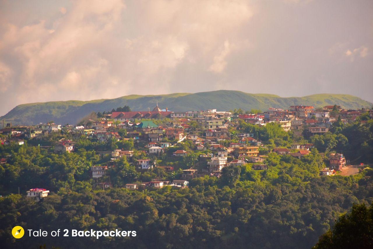 View of Cherrapunjee town from Arwah Cave