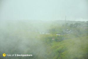 Cherrapunji shouded in clouds