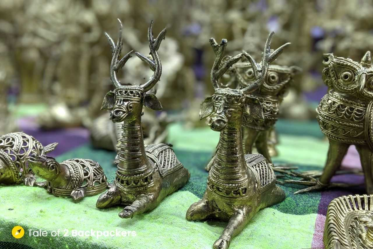 Dokra figurines from Bikna West Bengal - Best Indian souvenirs
