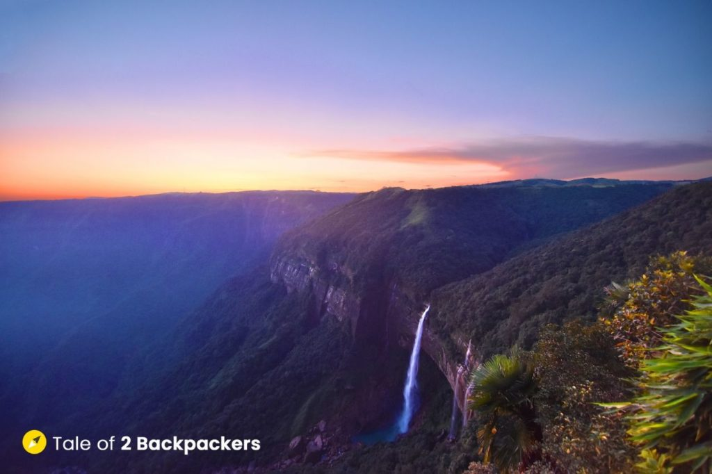 Nohkalikai Falls Sohra Meghalaya