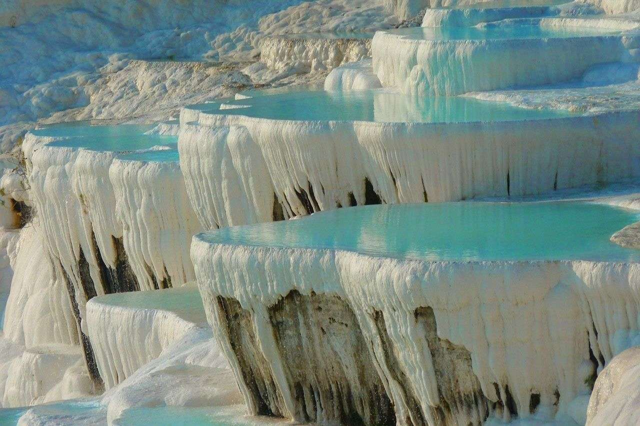 Salt terraces of Pamukkale - best things to do in Turkey